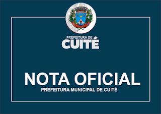 Prefeitura de Cuité se pronuncia sobre acidente com prestador de serviço nessa terça-feira