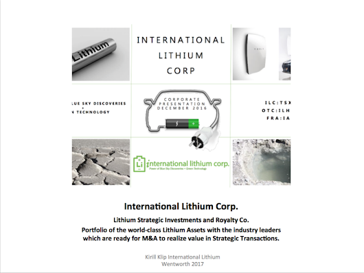 International Lithium Corp. Appoints Patricia Fong As CFO And Adds To Management Team.