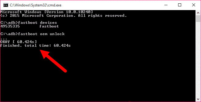 how to allow oem unlock in fastboot