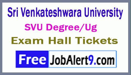 Sri Venkateshwara University  SVU Degree/Ug Exam Hall Tickets