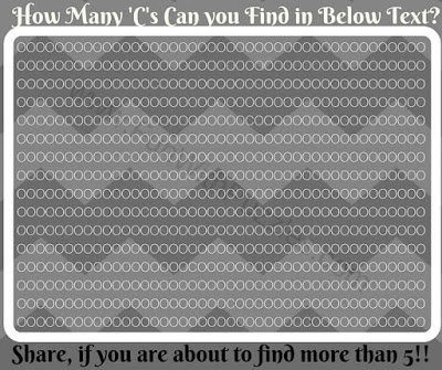 Can you find hidden Cs in this picture puzzle?