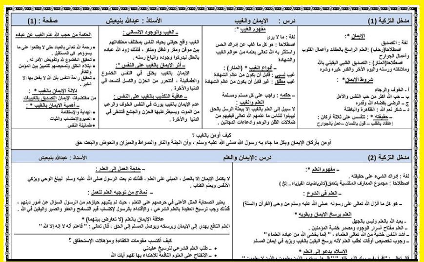 تلخيص درس عثمان بن عفان اولى باك