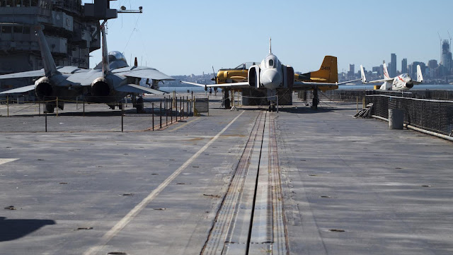 Upper deck of the USS Hornet in Alameda, California