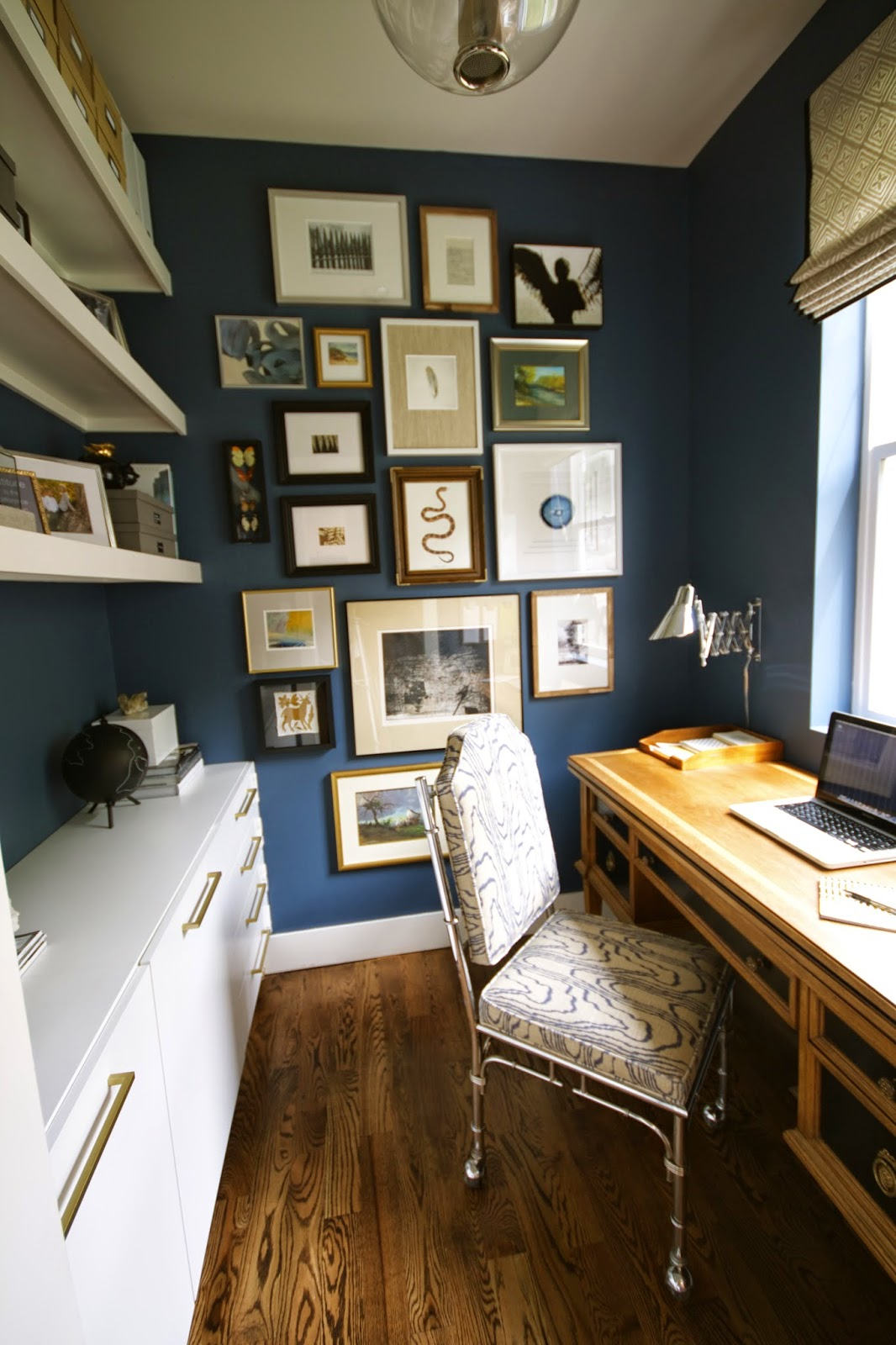 Mini Office Design Dump: One Room Challenge Reveal: My Mini Office