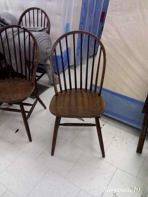 Windsor style chairs at the Thrift store
