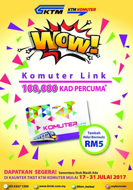 Free KTM Komuter Link Card Giveaway Promo