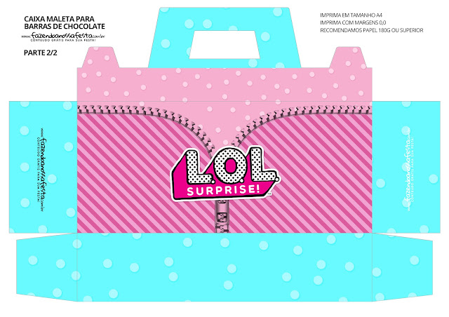 LOL Surprise! Caja con Forma de Maleta para Imprimir Gratis.