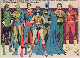 Justice League vintage comic book