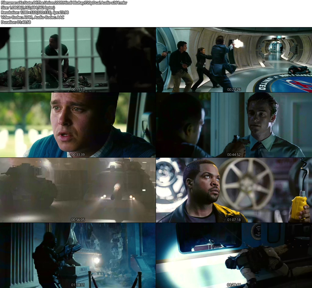 xXx StateOf The Union 2005 Hindi BluRay 720p Dual Audio | 480p 300MB | 100MB HEVC Screenshot