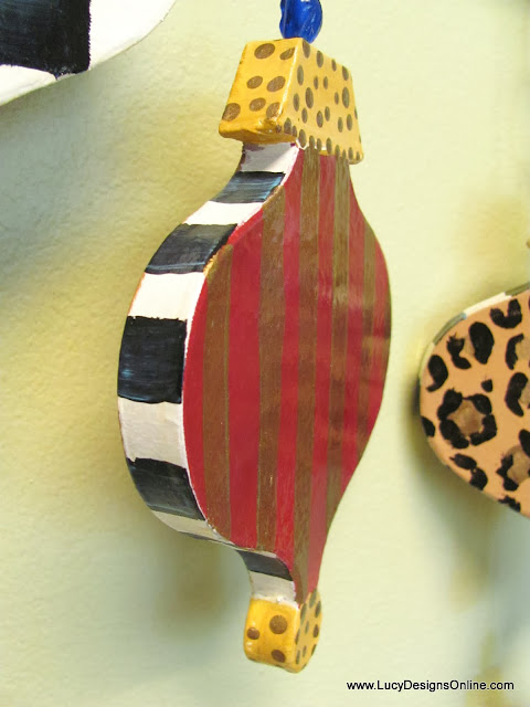 paper mache painted ornament