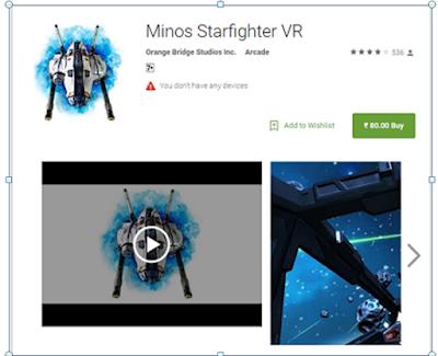 Minos Starfighter VR App