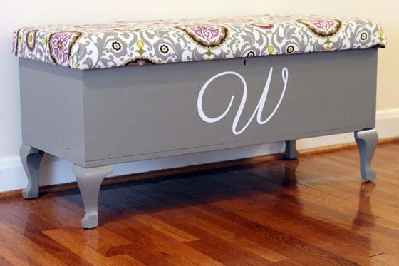 upholstered bench tutorial