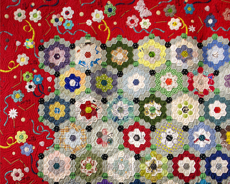 Tokyo International Quilt Festival 2018 | Talking to Flowers by 山口智恵子*Chieko Yamaguchi | © Red Pepper Quilts 2018