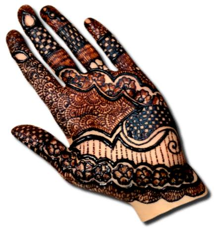 Bold Henna Designs for Front Hand