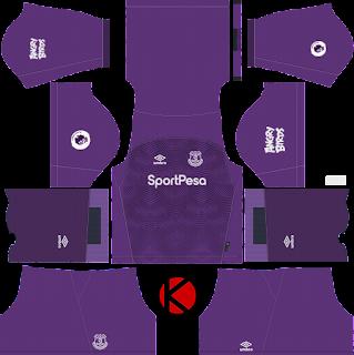 Everton FC 2018/19 goalkeeper Kit - Dream League Soccer Kits
