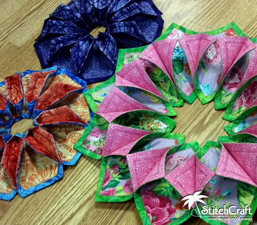 StitchCraft Of Boca Fold'n Stitch Wreaths Blooms Leaf Toppers Delectable Fold And Stitch Wreath Pattern