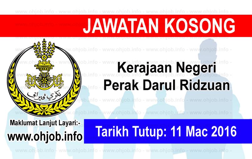 Jawatan Kerja Kosong Kerajaan Negeri Perak logo www.ohjob.info mac 2016