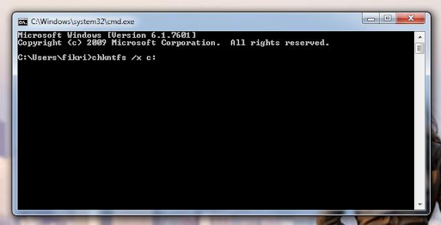 Mengatasi CHKDSK pada Windows 7