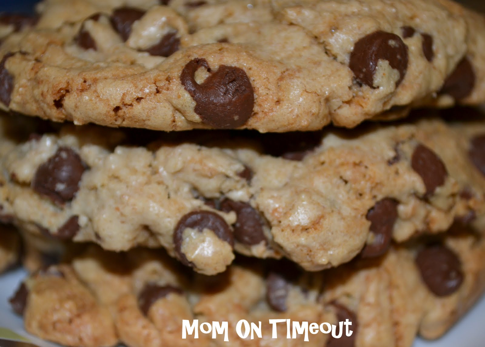 Giant Chewy Chocolate Chip Cookies - Mom On Timeout