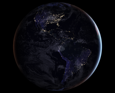 Picture of Earth Night from Space Nasa