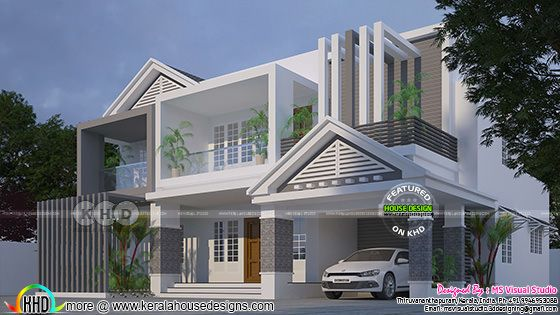 2747 square feet modern Kerala home design