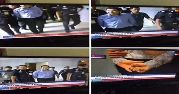 Akhirnya Rafizi Mengaku Dia Sendiri Minta Polis Gari Tangannya