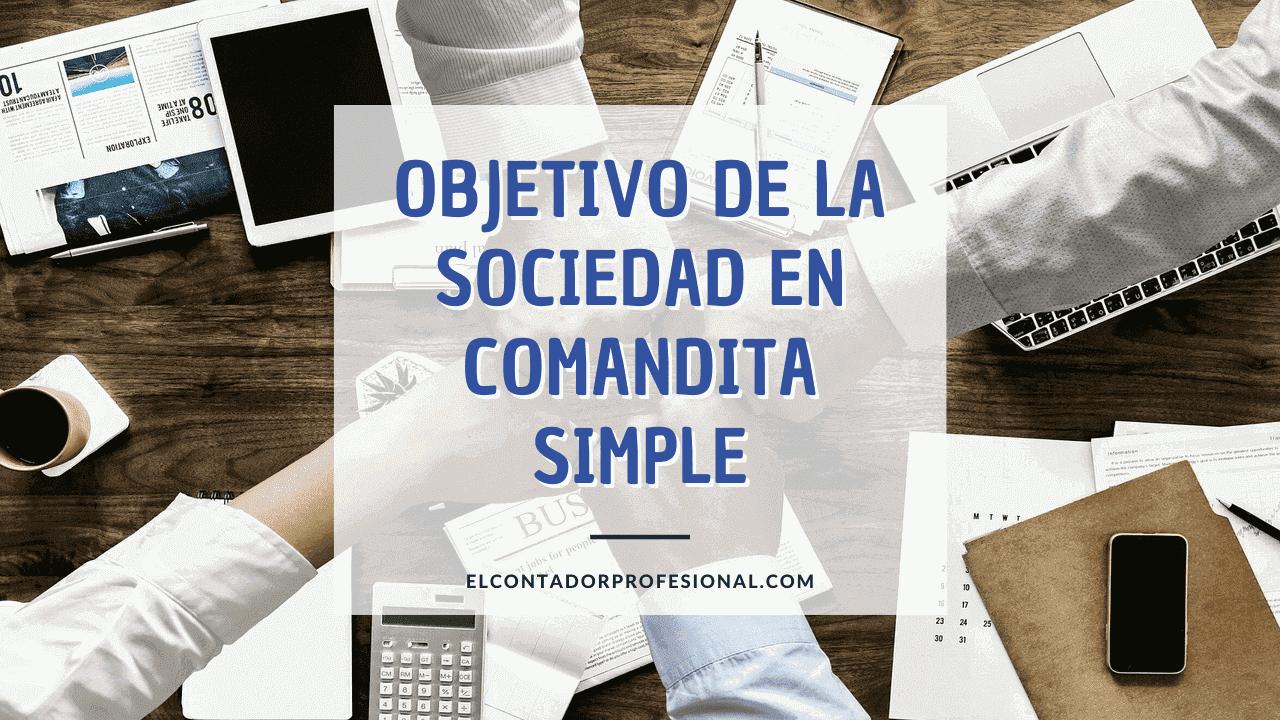 objetivo de la sociedad en comandita simple