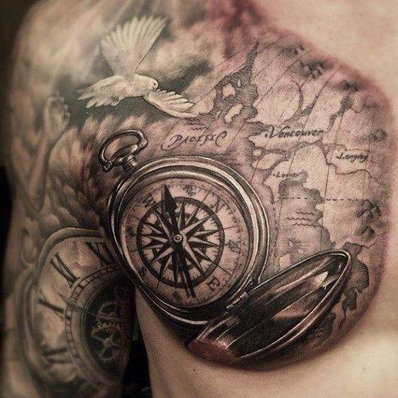 40 Wonderful Compass Tattoo Ideas Tattoos Trends Tattoos Designs