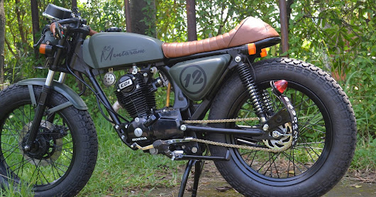 Custom Honda GL Pro Cafe Racer Green Day | Otoasia.Net Automotive update terbaru Motor dan Mobil Modifikasi