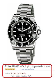 Rolex 116610 - Orologio da polso da uomo