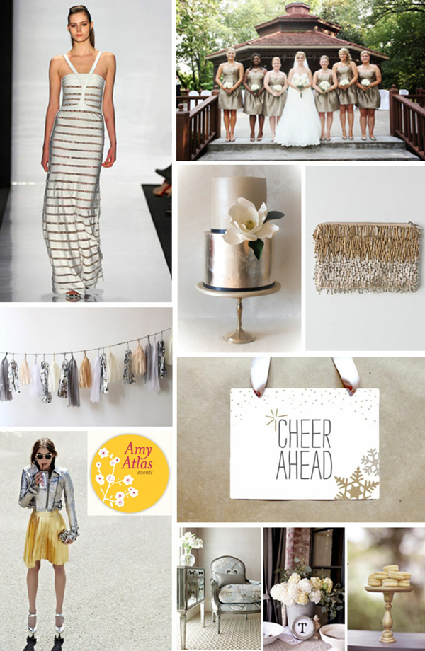 Metallic Chic Christmas Party Ideas - via BirdsParty.com