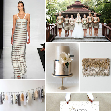 Metallic Chic Christmas Party Ideas
