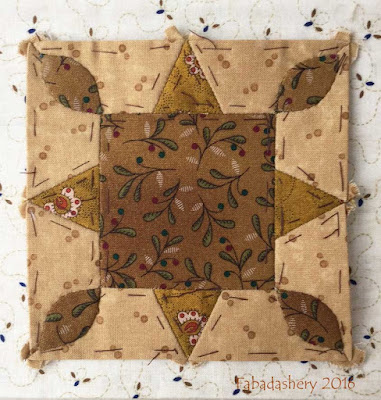 Dear Jane Quilt - Block D4 Crystal Star
