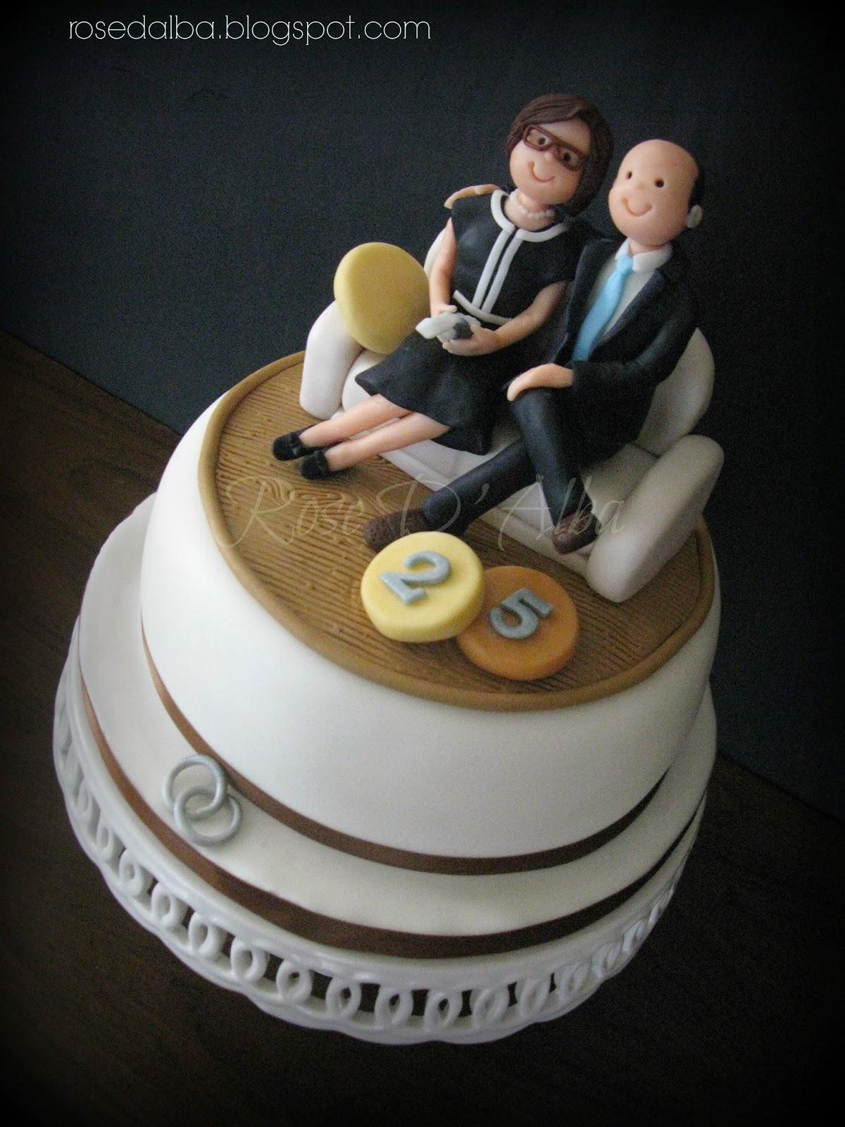 Popolare ROSE D' ALBA cake designer: Una torta per i 25 anni di matrimonio  SL81