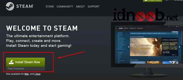 Cara Install Steam