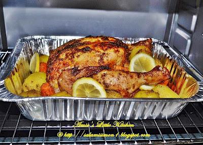 Gambar Ayam Bakar Oven - Gambar Hitam HD