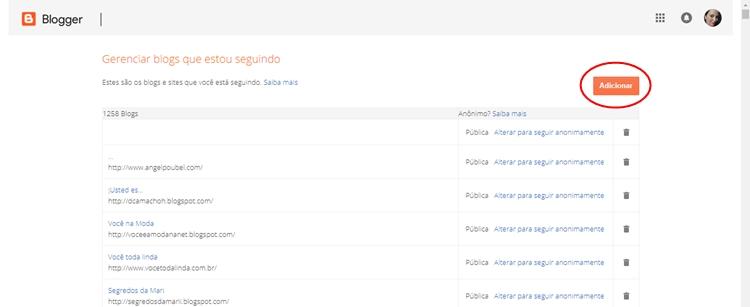 botão de seguidores no blog