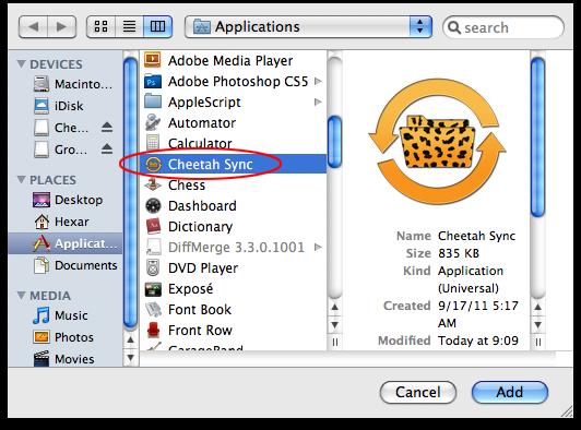 Cheetah Sync Firewall Guide for Mac OS X | JRT Studio