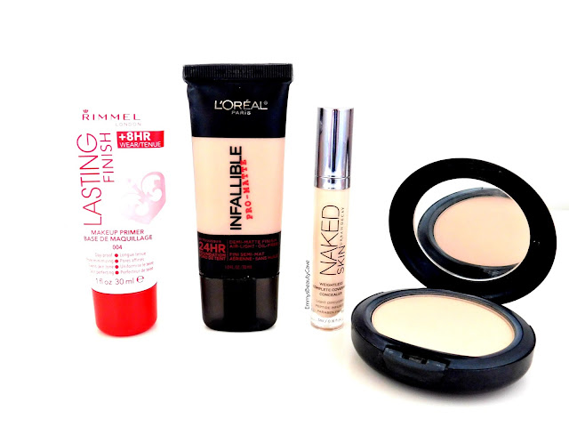 makeup for oily skin, loreal infallible pro matte, rimmel lasting finish