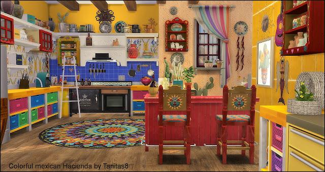 Sims 4 cc 39 s the best colorful mexican hacienda by tanita - Decoracion indu ...