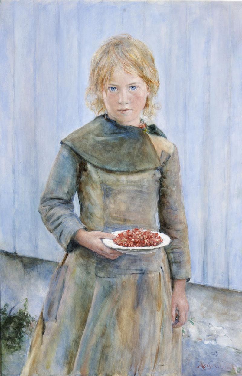 Hans Heyerdahl The Strawberry Girl