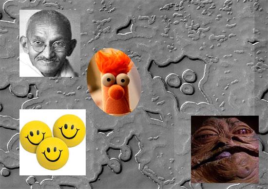 Estranhos círculos no solo de Marte comparações personagens conhecidos