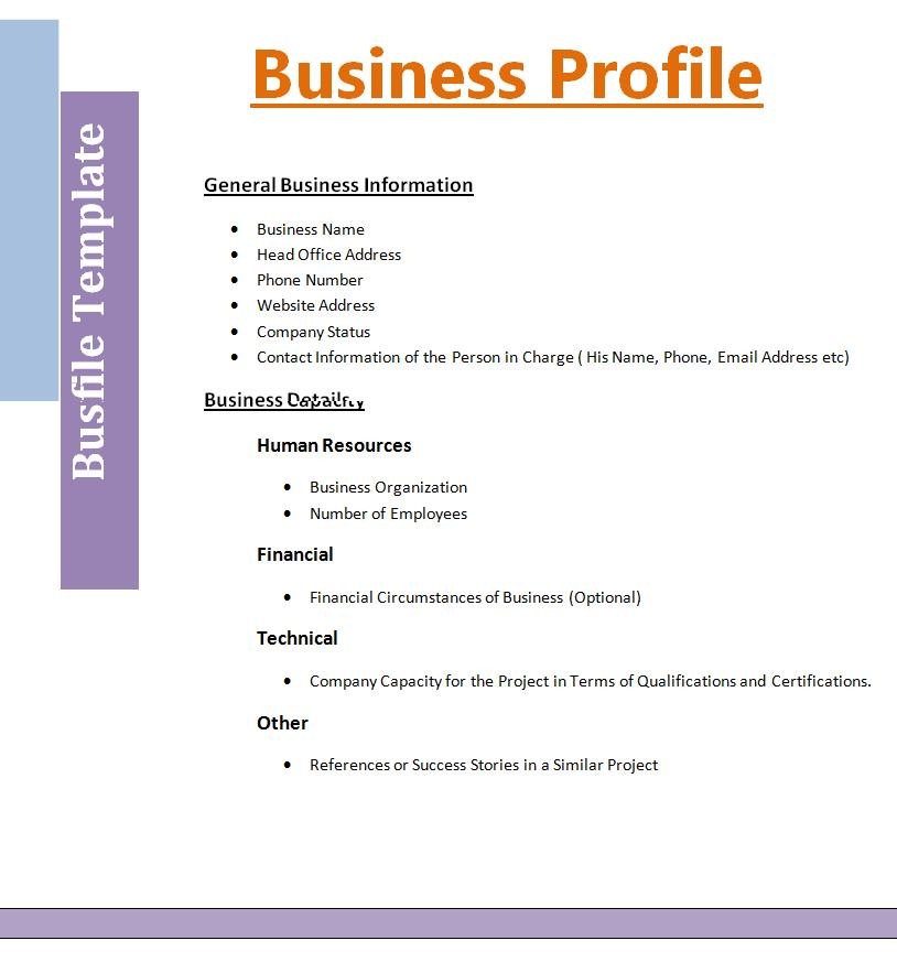 Competitive Analysis Template Professional Templates Pinterest - profile format