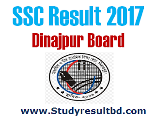 SSC Result 2017 Dinajpur Board
