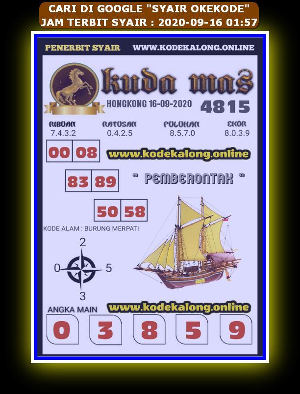 Kode syair Hongkong Rabu 16 September 2020 235