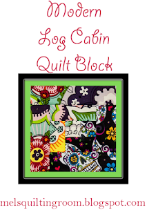 #Video on how to make a log cabin quilt block. Very modern looking @homeecmel