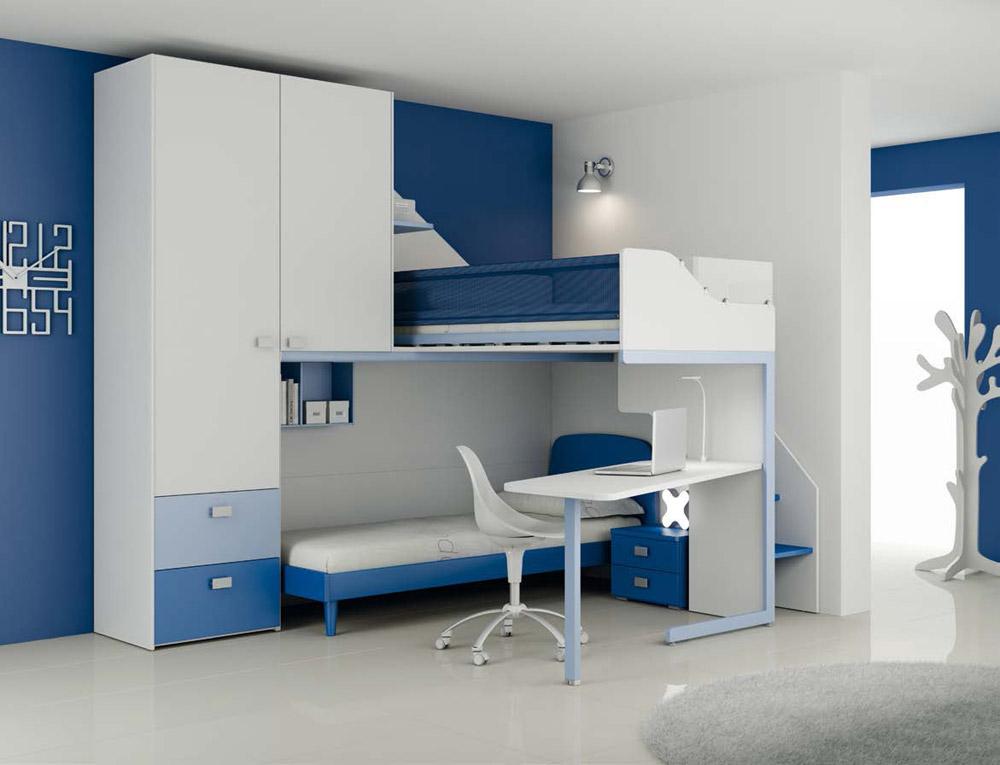 Camera ragazzi composizione lh36 ed lh15 start solution - Decoration chambre petit garcon ...