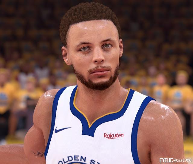 NBA 2K19 Stephen Curry Cyberface