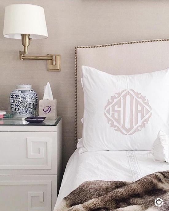 monogram-pillow-sham-leontine-linens Design Growth In My House Interior