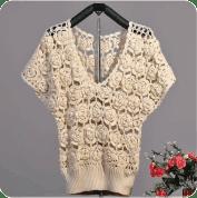 Blusa de rosas a crochet